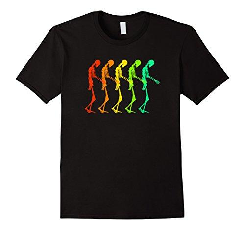 Halloween Subtle Men Costumes (Mens Neon Style Creepy Shirt for Fright Night or Halloween Night Medium)