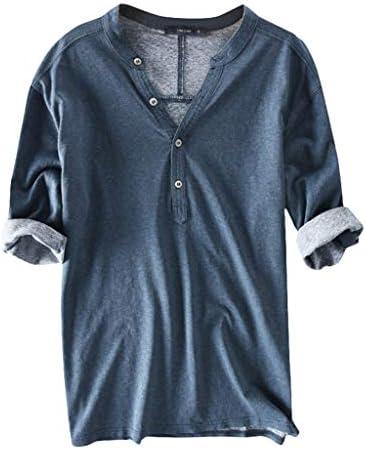 Charku Tシャツ メンズ 夏服 半袖 ボタン シャツ トップ シャツ トップス 半袖 シャツ 無地 綿 カットソー 軽い 柔らかい シャツ 男性 トップス ゆったり ブラウス カジュアル ファッション かっこいい レジャー 春夏節対応 大きいサイズ