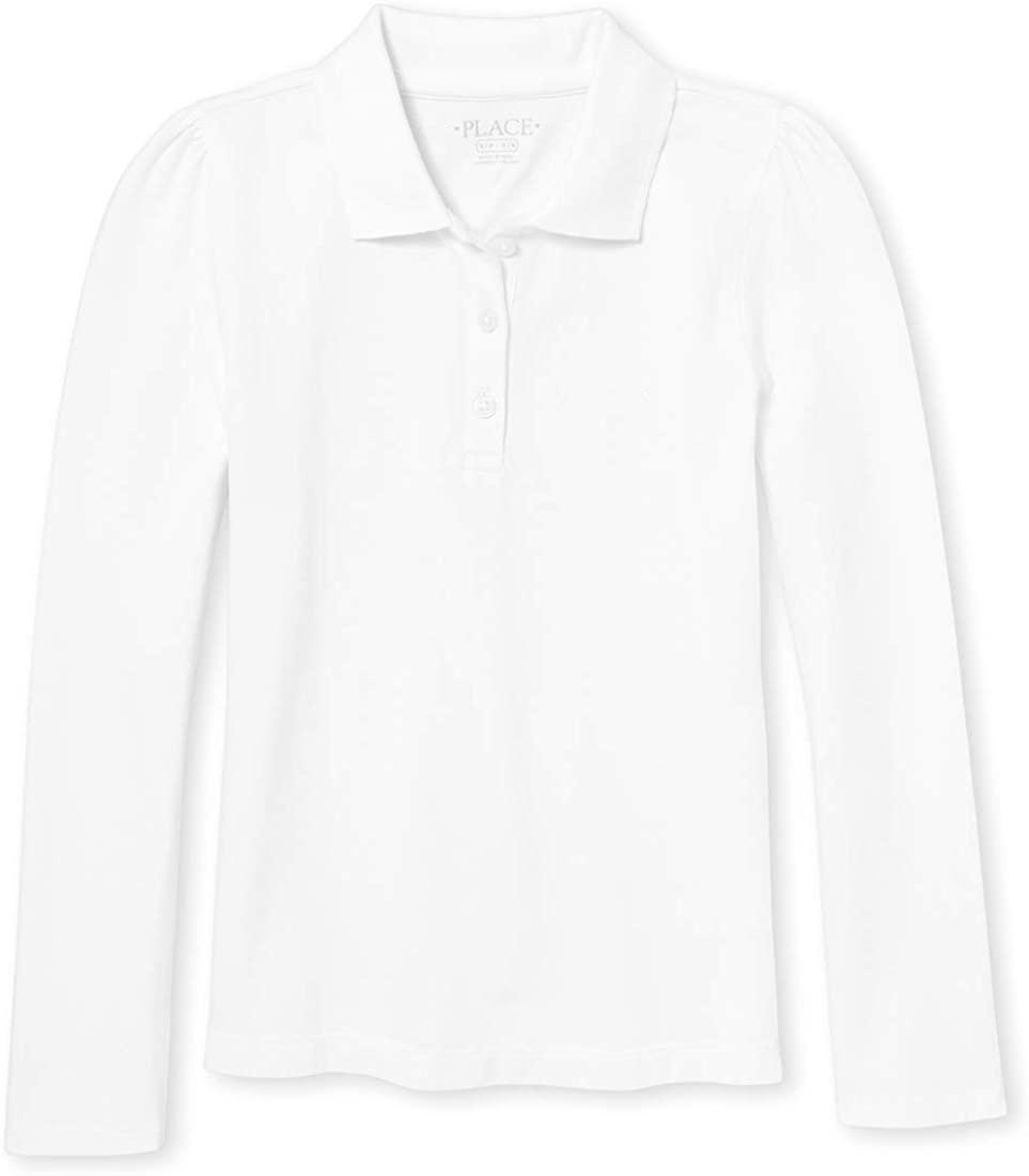 The Children's Place Girls' Uniform Long Sleeve Pique Polo: Clothing