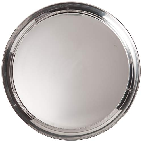 Libertyware 16 Inch Round Stainless Steel Serving Tray Silver