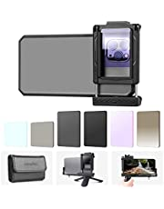 SESENPRO Phone Camera Lens Filters Kit 6 in 1, Polarizer, ND8, ND16, Natural Night, GND32, Star 6, Smartphone Photography Clip Tripod Adapter for All Cellphones with Mini Tripod