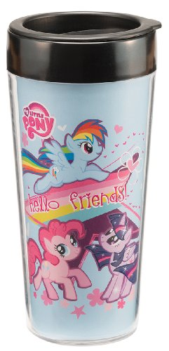 Vandor 42051 My Little Pony 16 oz Plastic Travel Mug, Mutlicolor