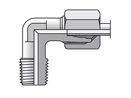 EO/EO-2 90° Elbow, Male Connector - WE-NPT by Parker