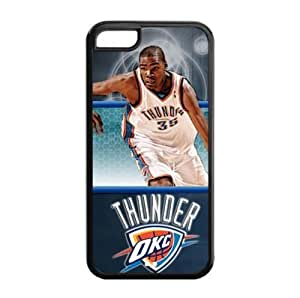 iPhone 5C TPU Fitted case with Oklahoma City Thunder Kevin Durant Art Painting-by Allthingsbasketball Kimberly Kurzendoerfer