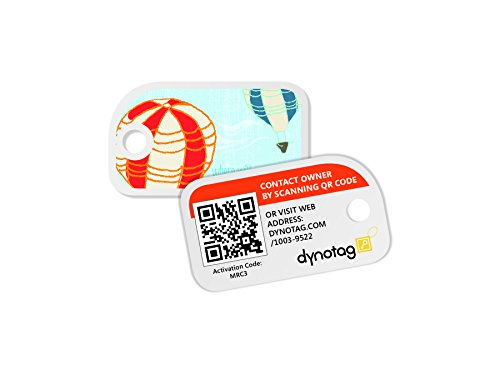 - Dynotag Web Enabled Smart Mini Fashion ID Tags, with DynoIQ & Lifetime Recovery Service. 3 Identical Tags for Gear (Up!)