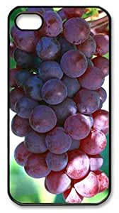 Red Grapes in the Tree DIY Hard Shell Black iphone 4/4s Case By Custom Service Your Best Choice