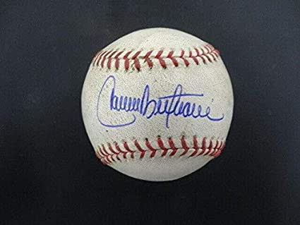 Carlos Beltran Signed Game Used Mlb Baseball Autograph Auto