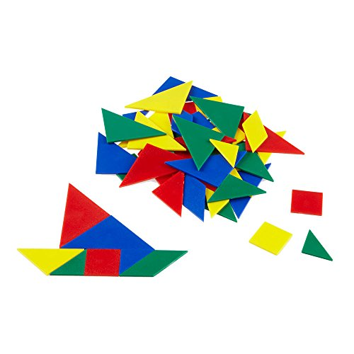 hand2mind Plastic Tangrams, Manipulative Set for Math Puzzles (Pack of 24)