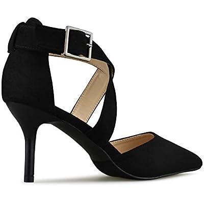 Premier Standard - Womens Strappy Closed Toe High Heel - Formal, Wedding, Party Simple Classic Platform Pump | Pumps