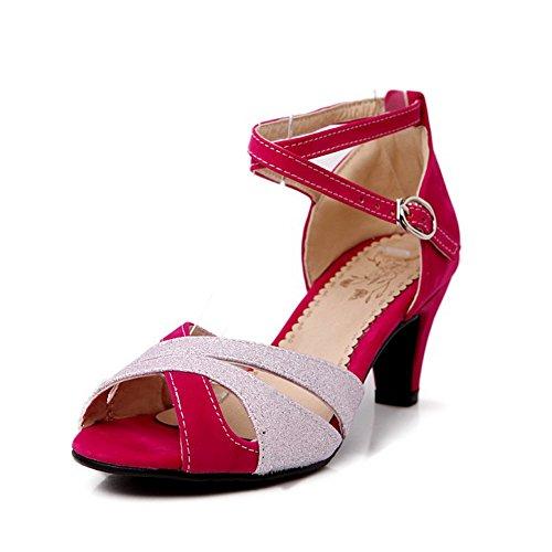 Adee - Sandalias de vestir para mujer Peach
