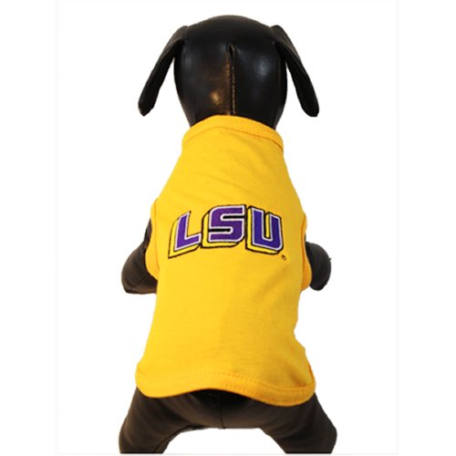 NCAA Louisiana State Fightin Tigers Cotton Lycra Dog Tank Top, XX-Small