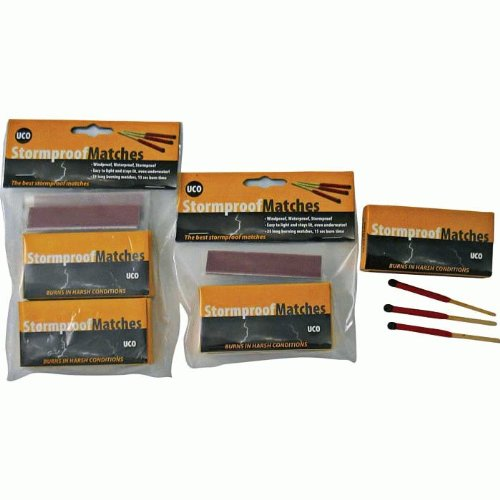 Bundle - 3 Items: 3 Twin-Packs 0f UCO Stormproof Matches (150 Matches)