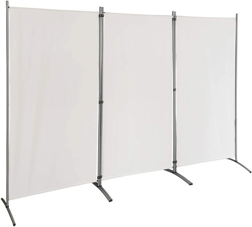 """STEELAID Room Divider – Folding Partition Privacy Screen for School, Church, Office, Classroom, Dorm Room, Kids Room, Studio, Conference - 102"""" W X 71"""" Inches - Freestanding & Foldable"""