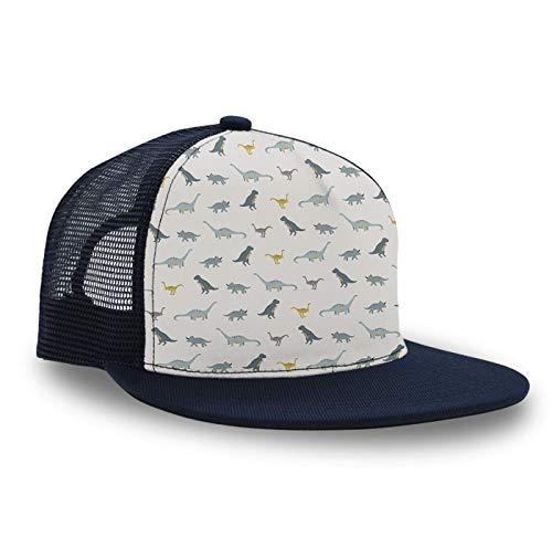 Novelty Gift for Men, Unisex Small Discipline Dinosaur Flat Bill Hats Hip Hop Cap Snapback Hat for Golf Tennis Camping Cycling