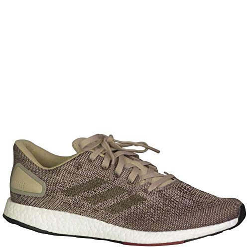 adidas Men's Pureboost DPR Running Shoes RawGold/TraceOlive/CollegiateBurgundy 12 D(M) US Brown/White