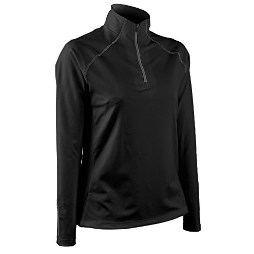 (Sun Mountain Women Second Layer Golf Pullover Black Large)