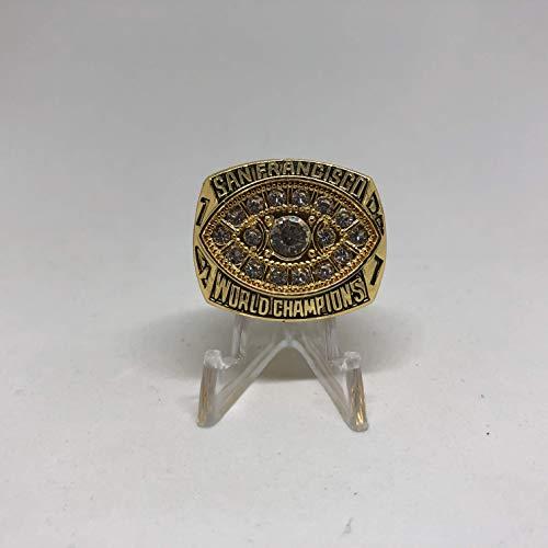 San Francisco Ring Montana 49ers (1981 Joe Montana San Francisco 49ers High Quality Replica 1981 Super Bowl XVI Ring Size 11-Gold US SHIPPING)