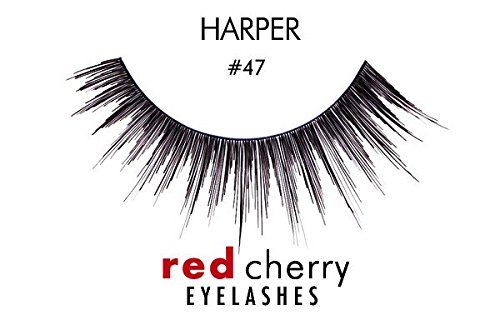 Red Cherry False Eyelashes #47 (Pack of 3)