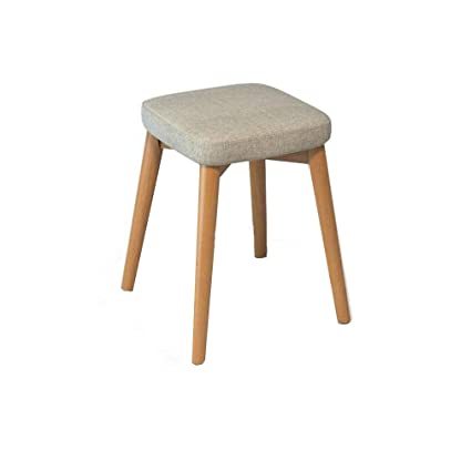 Phenomenal Amazon Com Ycsd Solid Wood Square Stool Home Dining Stool Pdpeps Interior Chair Design Pdpepsorg
