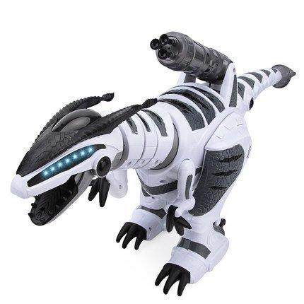 Yeezee Rmote Control Dinasour Toys,Wireless Large Shooting Rex, Walking, Dancing, Figure Gesture, Progammable,Robot for kids(White)