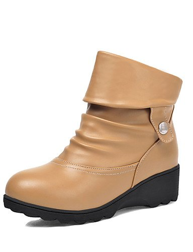 Vestido beige black Zapatos Casual us8 de black eu39 eu39 y Trabajo us8 Plataforma Exterior Comfort cn39 uk6 cn Oficina mujer eu39 Moda la Botas Punta uk6 Botas cn39 Redonda a XZZ us8 uk6 agfdqwSf