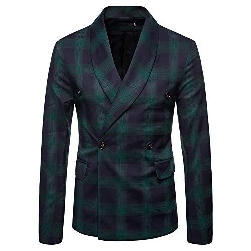 Clearance Mens Jacket! Pervobs Fashion Men's Autumn Winter Long Sleeve Plaid Suit Blazer Lapel Jacket Coat Top Blouse(L, ()