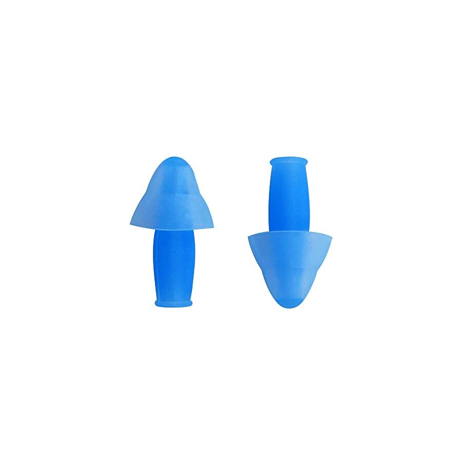 LANE4 Accessories – SPORTY EAR PLUGS with Storage Case, Chlorine proof Waterproof, Soft Comfortable Lightweight Reusable, Unisex for Adults Men Women Children E0160