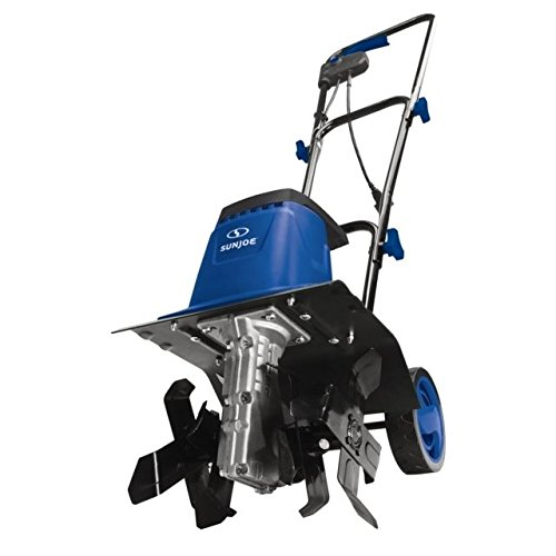 Sun Joe TJ602E-SJB 12-Inch 8-Amp Electric Garden Tiller/Cultivator, Dark Blue ()