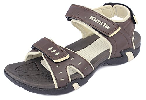 Kunsto Men's Sport Outdoor Sandal US Size 10 Brown by Kunsto