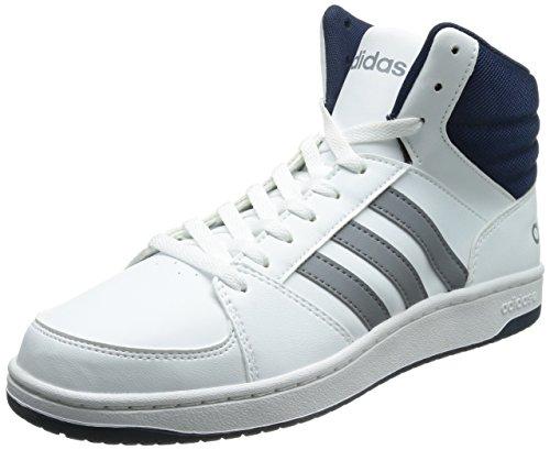 adidasHoops VS Mid - zapatillas deportivas altas Hombre Blanc - Weiß (White/Grey/Black)