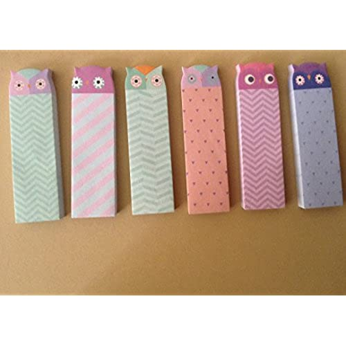 delicate 300 sheets cute owl bird animal removable adhesive sticker