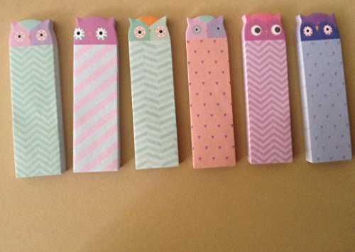 300 Sheets Cute Owl Bird Animal Removable Adhesive Sticker Pagemarker Bookmark Memo Flags Index Tab Sticky Notes