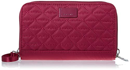 Price comparison product image Pacsafe RFIDsafe W200 Anti-Theft RFID Blocking Travel Wallet,  Cranberry