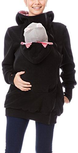 tb4mb - Chaqueta - para mujer Schwarz mit rotweißen Streifen