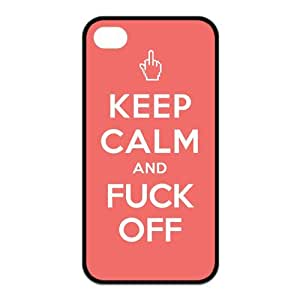 HOT SALE Best Iphone Case Popular Funny 'KEEP CALM AND' Saying-Slogan Design for TPU Best Iphone 4/4s Case (black)