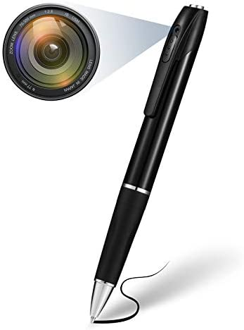 Spy Camera, Hidden Camera with 32GB Memory Card, Spy Pen Camera with 150 Minutes Pen Battery Life, Mini Camera for Home and Classroom Learning