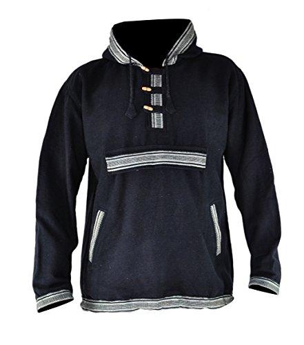 virblatt - Mens Baja Hoodie and Hippie Sweater Baja Jacket Men Hoodie Sweaters Men - Sphärenhaft bkl