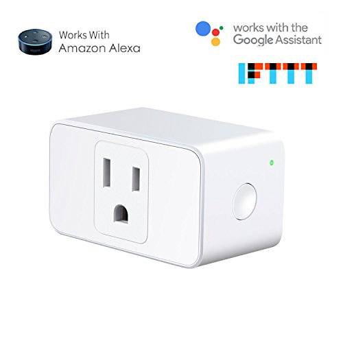 Meross Wifi Smart Plug Compatible with Alexa and Google Home, Wi-Fi Smart Socket Outlet Control Your Lights, Appliances From Your Phone (1 piece) -  VicTsing-MSS110
