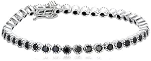 10k White Gold Black Diamond Bracelet (3 1/2 cttw)