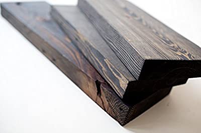 Handmade Reclaimed Wood Shelf Set - 3 Shelves Included - Made in USA
