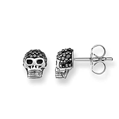 Thomas Sabo Women-Earstuds Rebel at Heart 925 Sterling silver Zirconia Pavé black H1772-051-11 W1c3Q