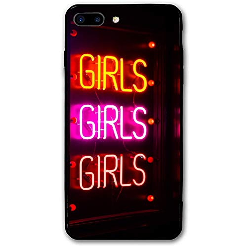 Inscription Neon Backlight Light Personalized iPhone 7/8 Plus Cover Shockproof Hard PC Compatible for iPhone 7/8 Plus Case 5.5