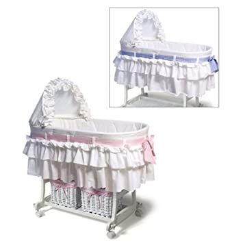 Nice Burlington Baby Bassinet Combo with Baskets White
