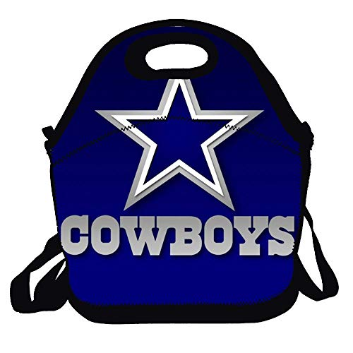 Amuseds Dallas Cowboys Leisure Lunch Bag Outdoor Travel Picnic For Women, Adults, Kids, Girls, And Teen Girls