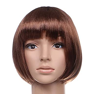 Amazon.com: Red Star Womens Short Bob Wig Fancy Dress Cosplay Wigs Pop Party Costume One Size Baby Pink: Clothing