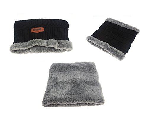 gorrita sombrero invierno Gorra Negro punto Hombre pañuelo caliente suave con de Eleter de qzgwxHZfn