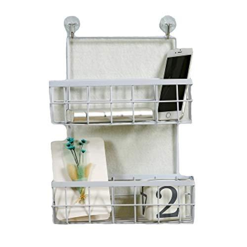 HUOFEINIAO Estante Colgar en la pared de hierro cesta de almacenamiento cocina condimento baño cosméticos caja de...