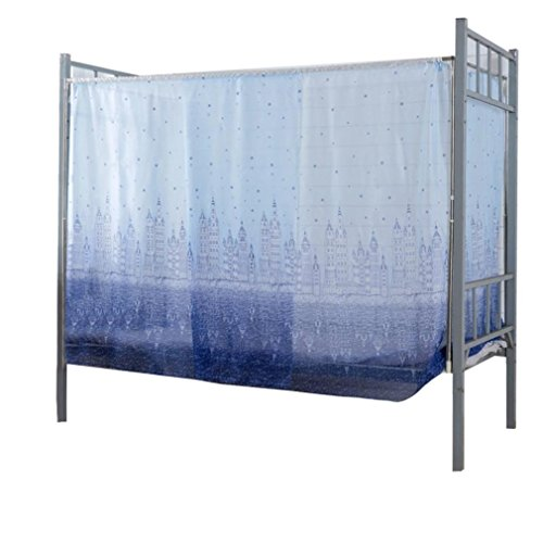 Vibola 1 Pcs Students Dormitory Bunk Beds Nets Spread Blackout Curtains Mosquito Net 90190155CM (Blue) (Bed Bunk For Universal Tent)