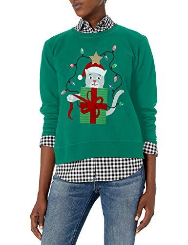 Hanes Women's Ugly Christmas Sweatshirt, Emerald...