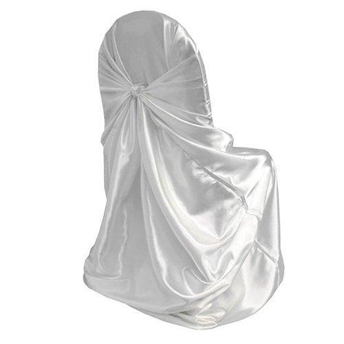 Gleader Coprisedia Seduta Bianco Lavabile per Decorazione Nozze Cerimonia